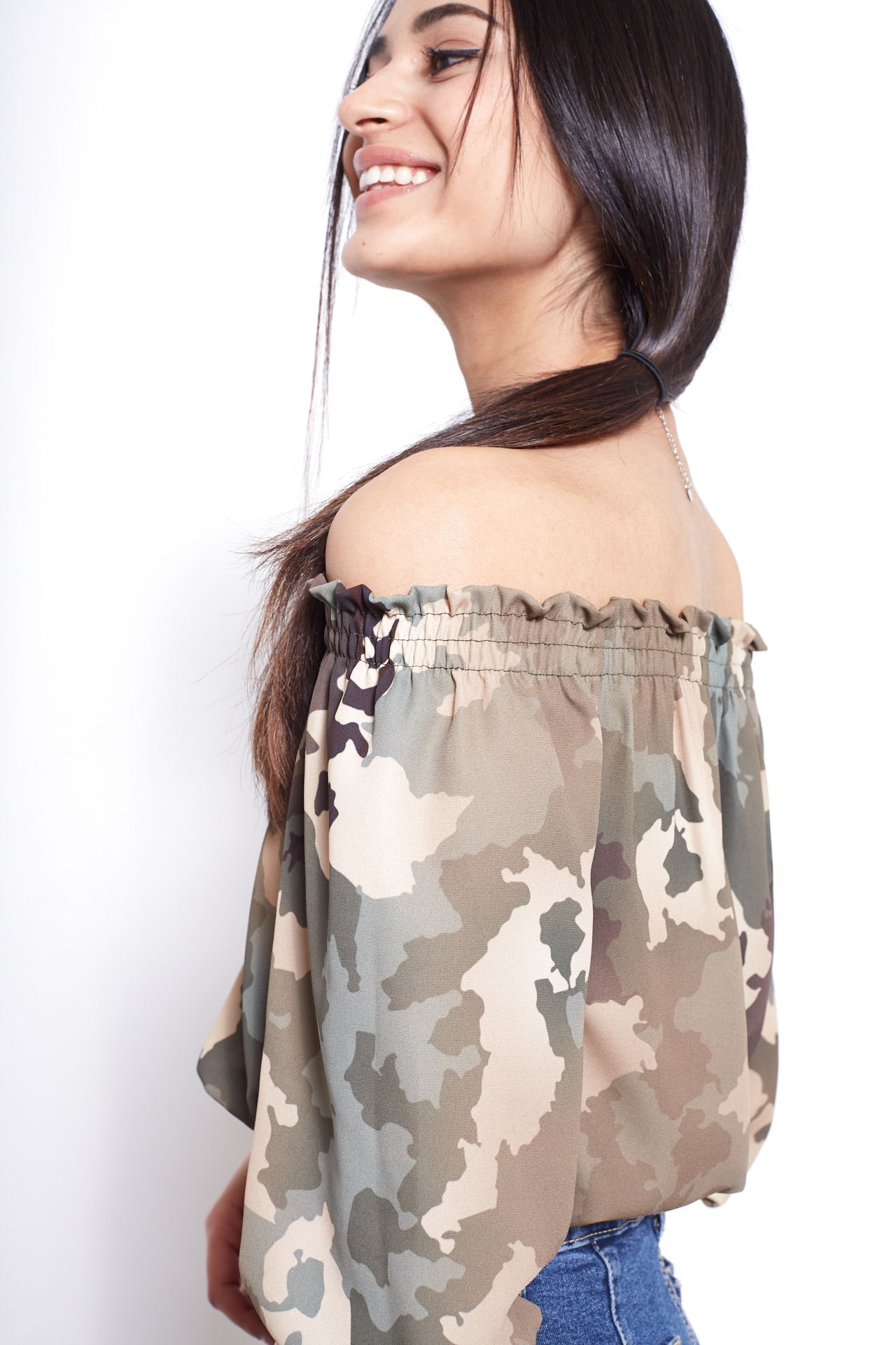 Blusa palloncino - camouflage Brend