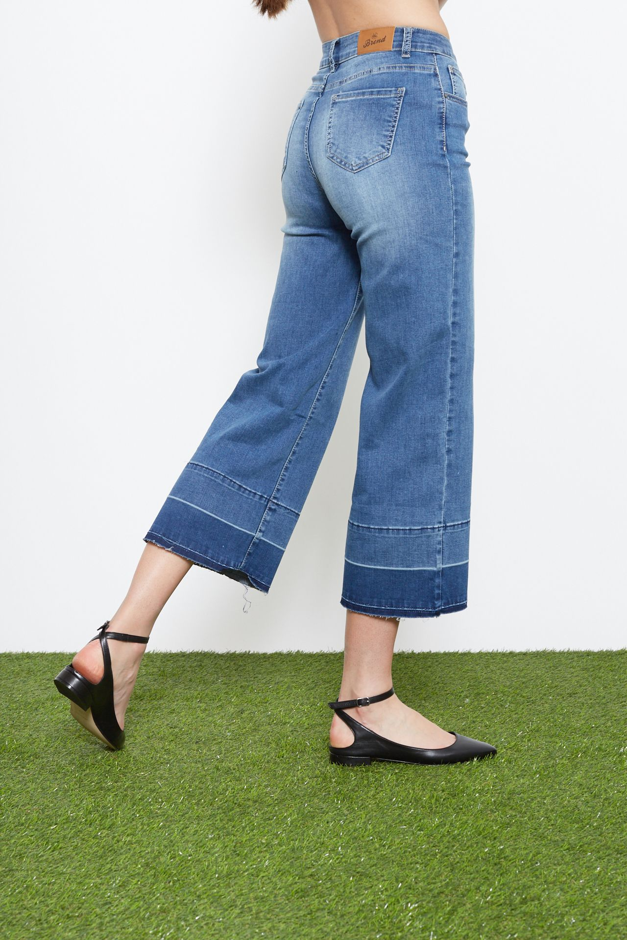 Jeans Palazzo - blu med. Brend
