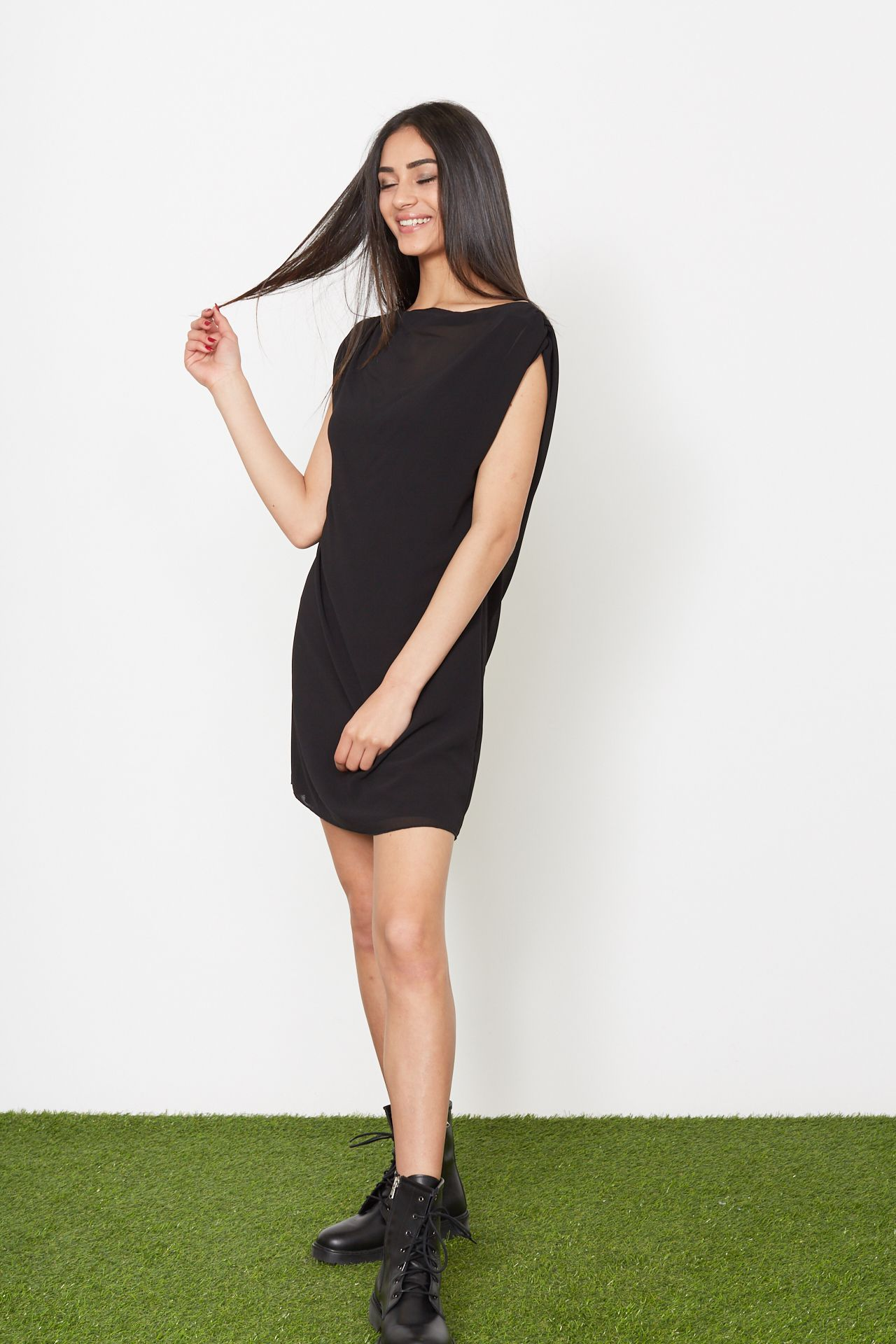 Mini-dress trapezio - nero Brend