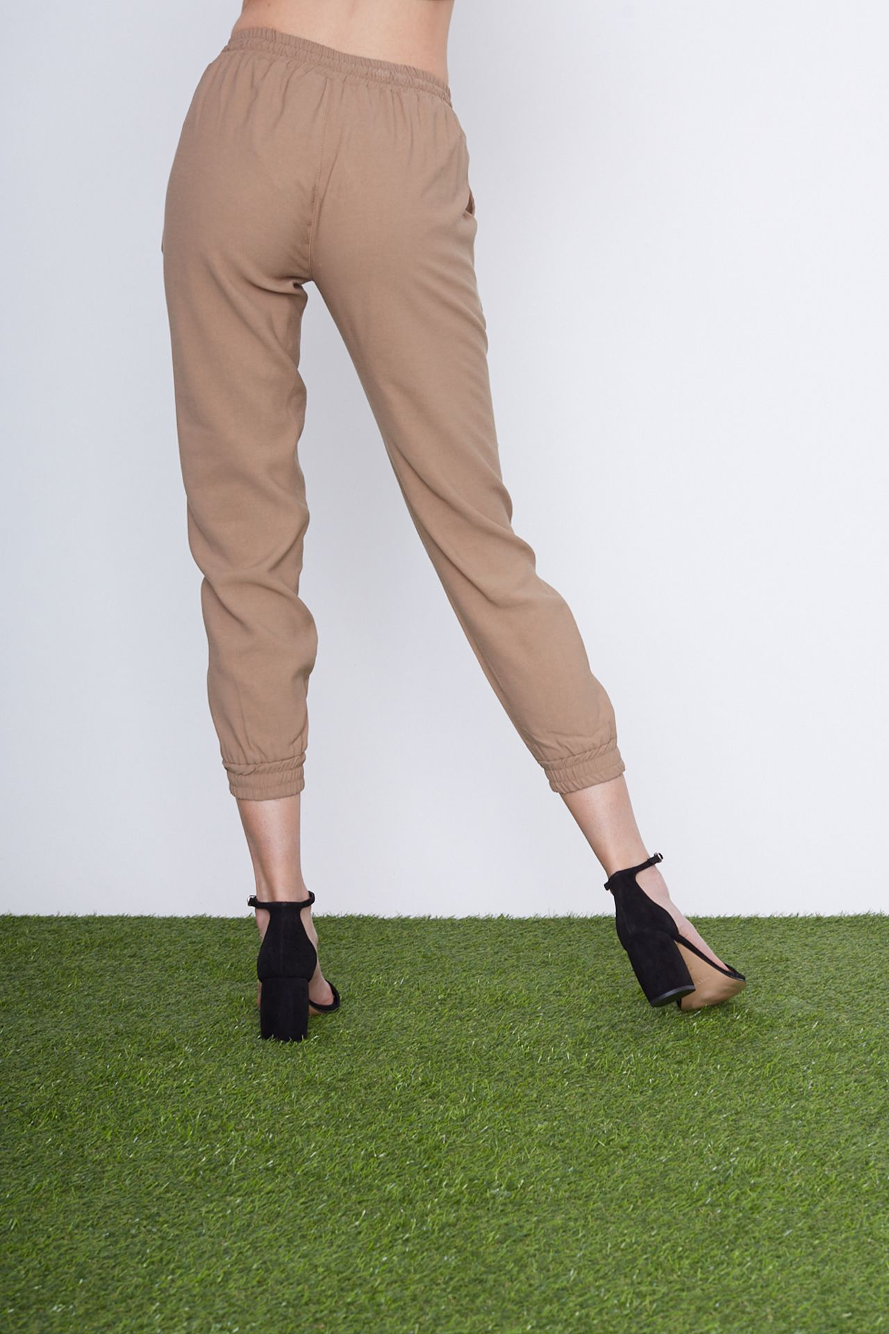 Pantalone coulisse - sabbia Brend