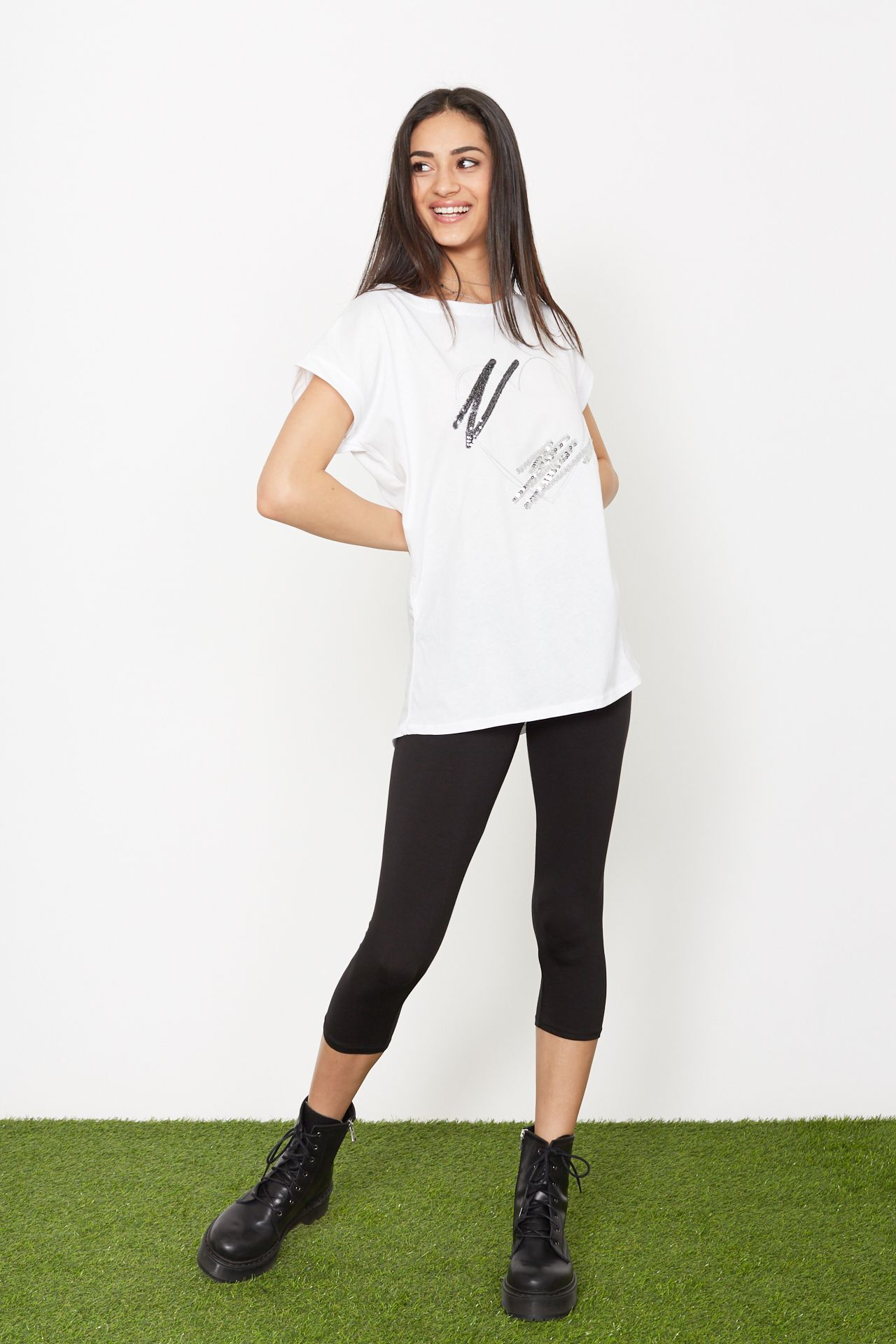 T-shirt stampa cuore - bianco Brend