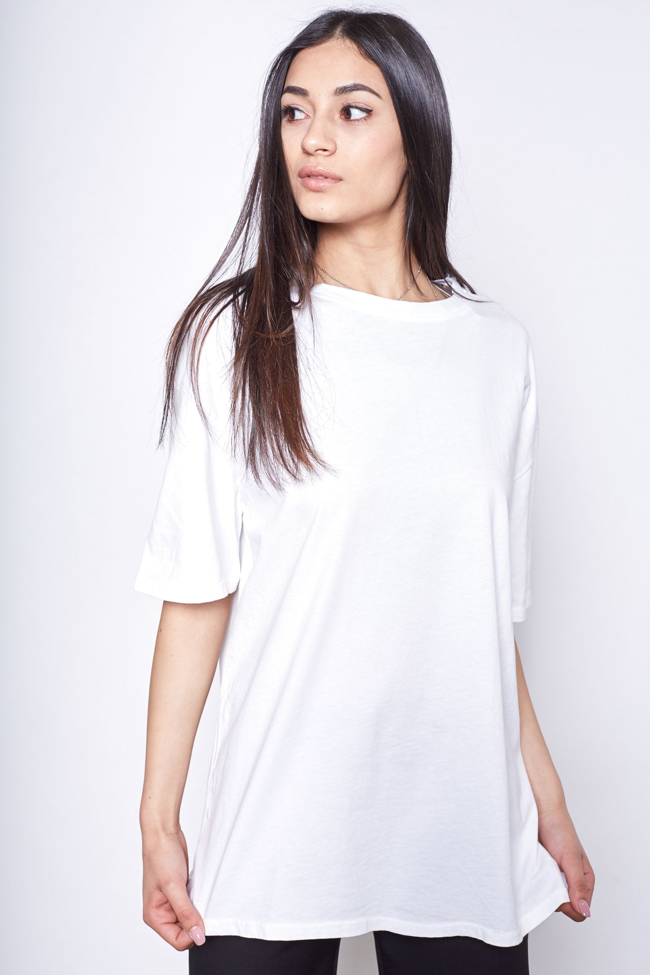 T-shirt over - bianco Brend