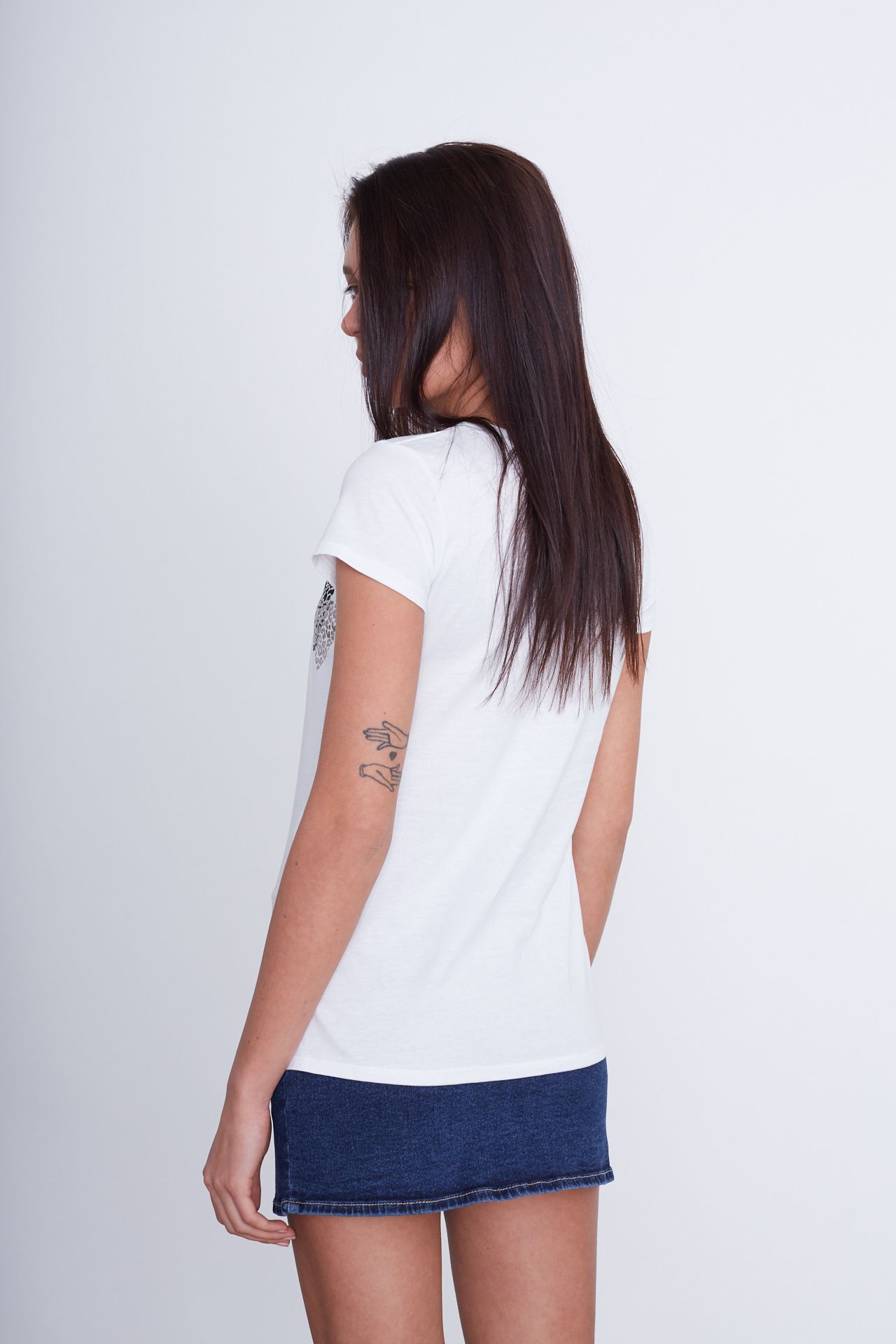 T-shirt stampata - bianca Brend