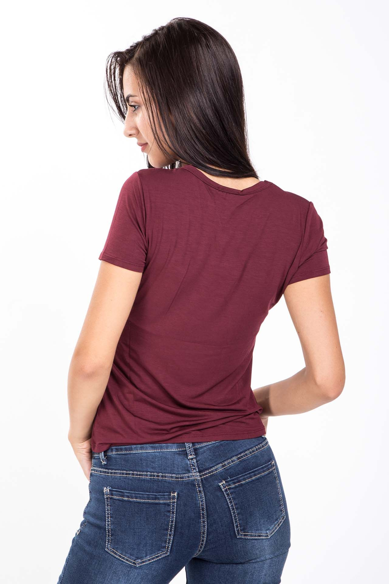 T-shirt con stampa - vino Brend