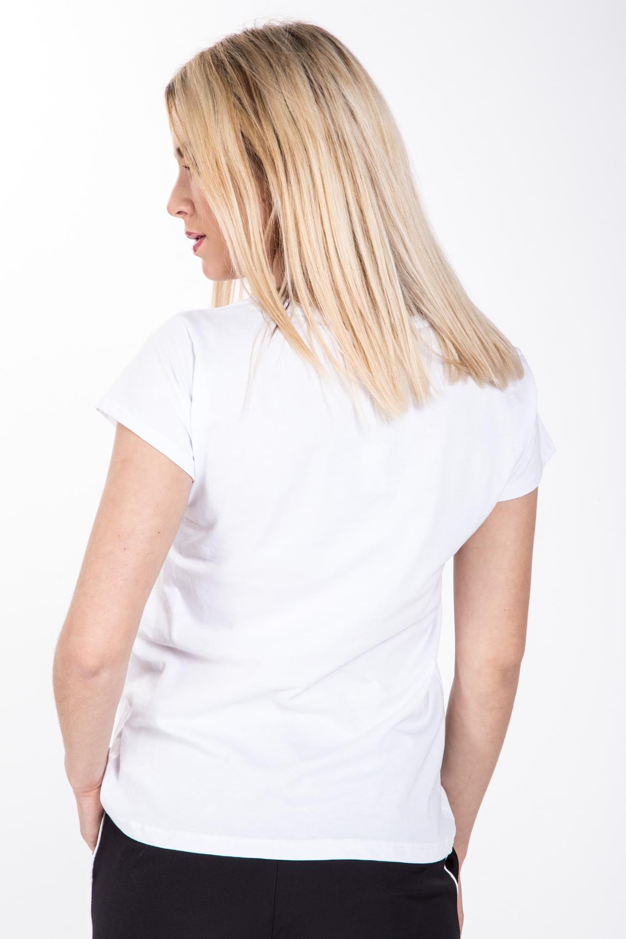 T-shirt con stampa - bianca con stampa nera Brend