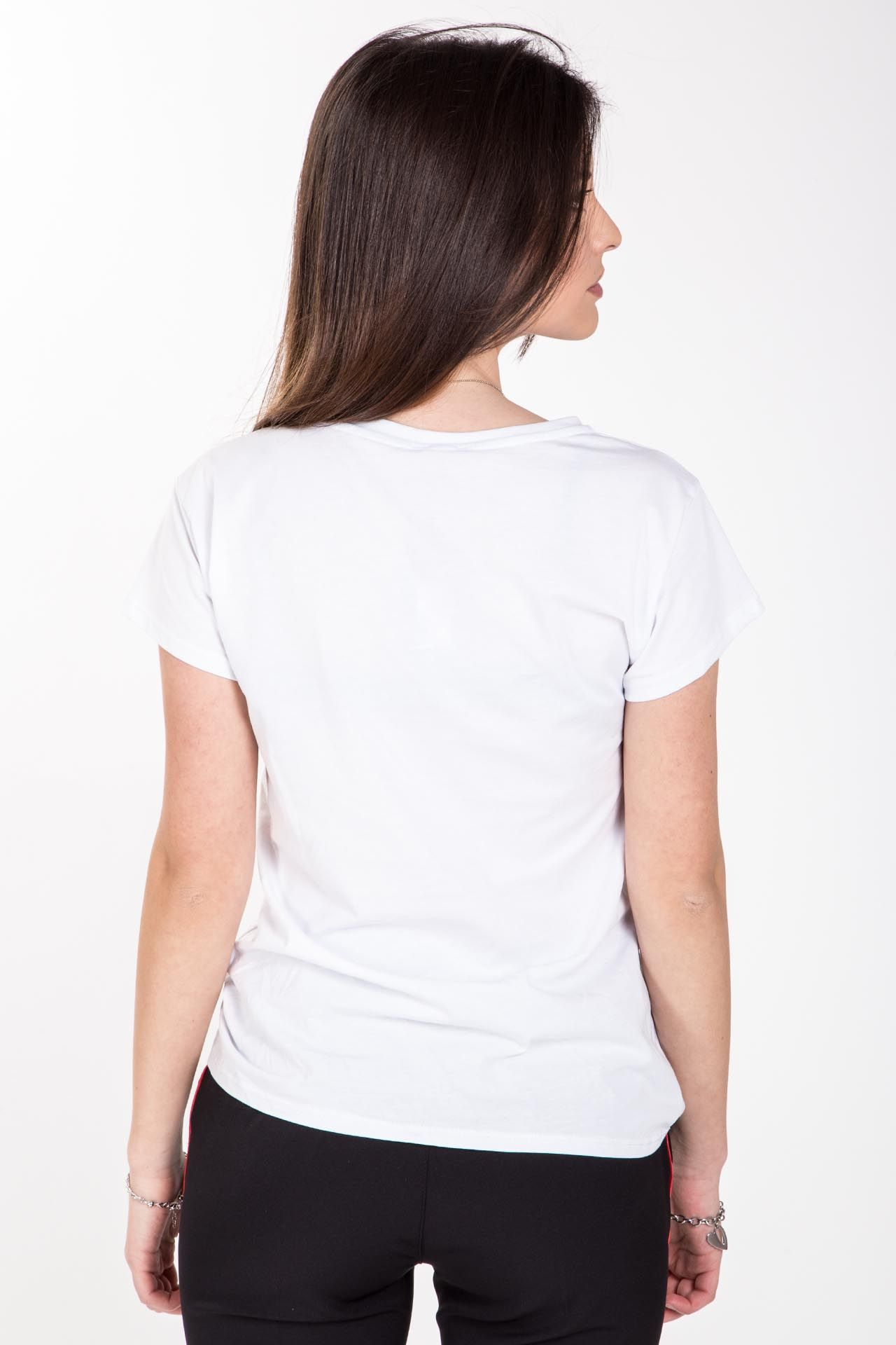 T-shirt con stampa - bianca con stampa rossa Brend