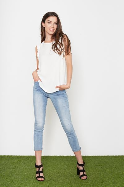 Blusa con rouches Brend