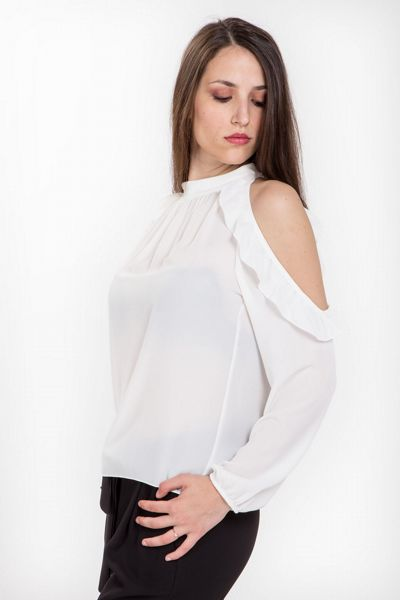 Camicia cut-out - bianco Brend
