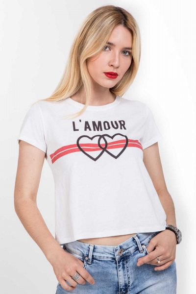 T-shirt con stampa L'AMOUR Brend