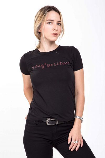 T-shirt con stampa Brend