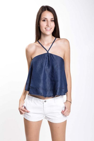 Top in chambray a ruota Brend